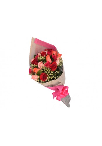 24 Rosas Multicolor en Bouquet  de $620 a $550