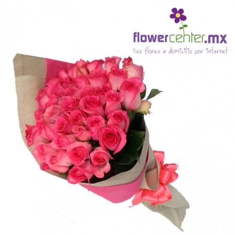 50 Rosas Rositas Decoradas en Bouquet