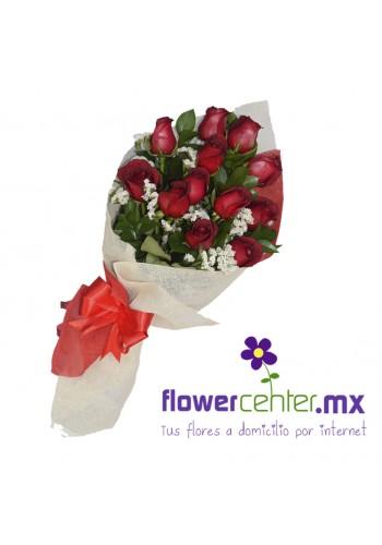 Bouque  12  Rosas Rojas