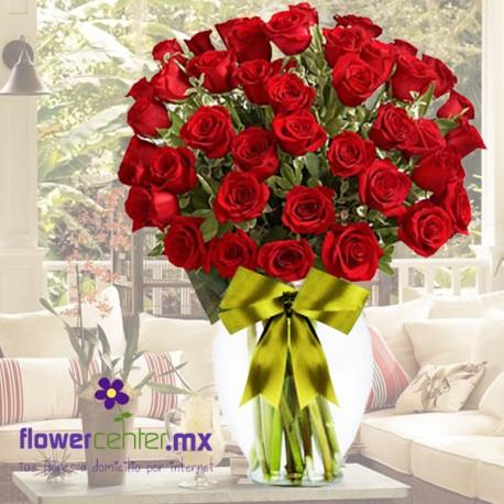 Jarron De Rosasarreglo Floralrosasflorerias En Guadalajararamillet