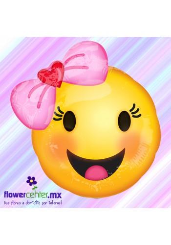 Globo Metalico Emoji Niña