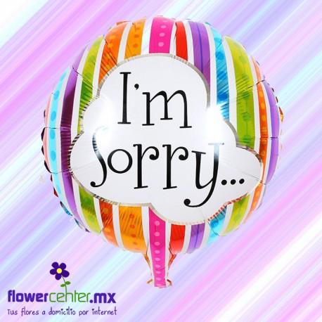 Globo Metalico De I' Am Sorry