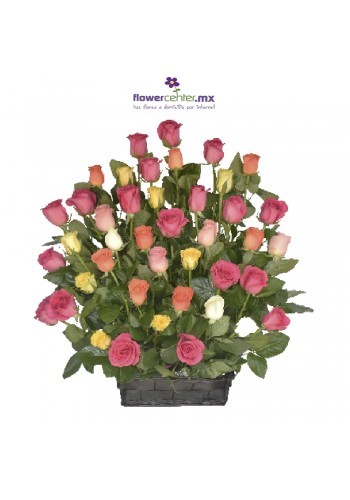 Canasta 48  Rosas